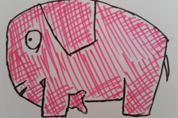 Rosa Elefant